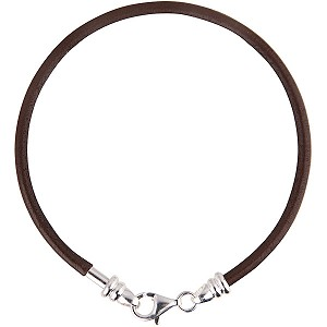 PERLAVITA Leather Bracelet, 8 Inch, Mocha