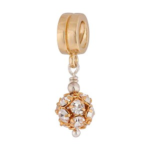 PavÈ Crystal Ball Charm, Gold