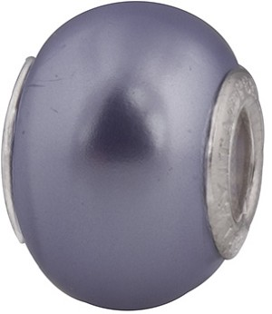 50% Off! Lt Blue Painted Bead Sterling Insert