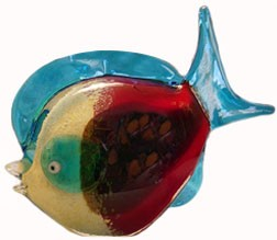Red Murano Glass Fish