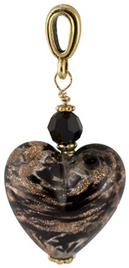 Black Aventurina Heart Pendant 20mm