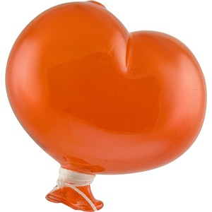 Oval Orange Boro Glass Hanging   Balloon, Large ~ 4 1/2 Inch