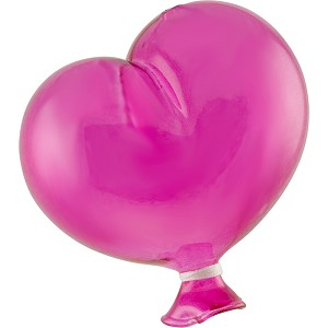 "~ 3 1/2"" Oval Hot Pink Boro Glass Hanging Balloon, Small"