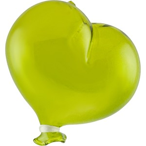 "~ 3 1/2"" Oval Green Boro Glass Hanging  Balloon, Small"