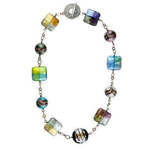 Cella Bella's Murano Glass Beads Four Seasons Necklace 20 Inches