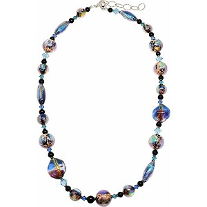 Over the Rainbow - Dichroic Necklace 24 Inches w/2 Inch Extender