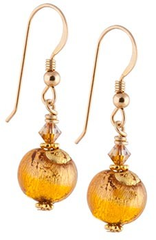 Sole Earrings - Topaz and Gold