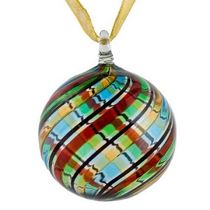 Multi Colored Murano Glass Hanging Ornament