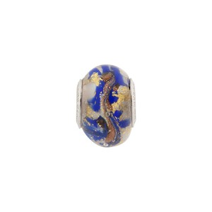 Cobalt Marmo Ca'd'oro Rondell Sterling Silver Insert