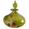 Murano Glass Perfume Bottle - Herb Green and Gold