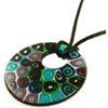 Abstract Millefiori Necklace 18 in