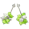 Sterling Silver Drop Earrings Peridot - Virginia
