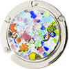 Murano Glass Purse Holder - Silver Foil