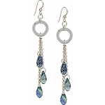 Provence Lavender Swarovski Briolette Earrings with Sterling Silver Ear Wires