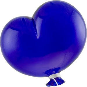Oval Cobalt Boro Glass Hanging   Balloon, Large ~ 4 1/2 Inch